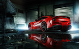 Обои: Ferrari, Red, Wheels, MC Customs, Rear, Supercar, Body, ADV.1, F12, Berlinetta, Wide