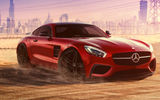 Обои: Mercedes-Benz, Supercar, Liberty, GT S, Front, Walk, AMG, 2015, Dubai, Red