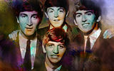 Обои: The Beatles, Ринго Старр, Джордж Харрисон, Пол Маккартни, музыка, Джон Леннон