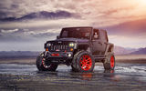 Обои для рабочего стола: Jeep, Wrangler, Custom, Forged, Track, Wheels, Red, Front, ADV1, Function
