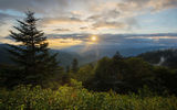 Обои: Waterrock Knob, Северная Каролина, горы, Blue Ridge Parkway, закат, North Carolina, Plott Balsam Mountain