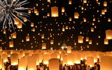 Обои для рабочего стола: Floating Lanterns, Thailand, Loi Krathong Festival