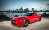 Обои: Vossen Wheels, wheels, город, auto, авто, машина, диски, Nissan, GTR