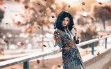 Картинки на телефон: Autumn beauty, Alessandro Di Cicco, листопад, девушка
