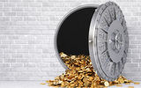 Картинки на телефон: money, gray, reinforced door, gold, wall, wealth