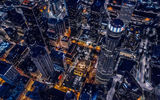 Обои: Los Angeles, City, Downtown, California, Achitecture, Helicopter, Buildings, Night, Cool, Cityscape, Urban