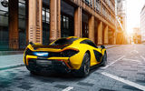 Обои для рабочего стола: McLaren, Fire, Rear, Supercar, Yellow, Exhaust, P1
