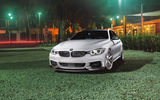 Обои для рабочего стола: BMW, M4, Front, Wheels, White, Green, Series, Grass, Vossen, Sport, Car, VFS1