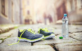 Обои: mineral water, healthy lifestyle, fitness, running shoes