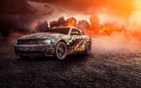 Обои для рабочего стола: Ford, Muscle, Mustang, Perfomance, Fire, Turbo, Comp, Front, Car