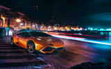 Обои: Lamborghini, Front, Supercar, DMC, Night, Orange, Huracan, Customs, LP610-4