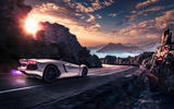 Обои для рабочего стола: Lamborghini, Rear, Supercar, Landscape, Aventador, LP700-4, Pirelli, Edition, Sunset