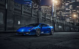 Обои: Lamborghini, Vorsteiner, Wheels, Blue, Gallardo, V-FF, Supercar, Front, 105, Wheels
