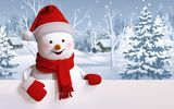 Обои: snowman, happy, winter, снеговик, cute, snow