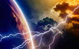 Обои: energy, lightning, planet, atmosphere