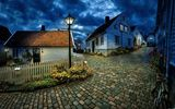 Обои для рабочего стола: town, stavanger, town, blue hour, village, norway, cobblestone