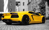 Обои: lamborghini, yellow, авентадор, ламборджини, желтый, aventador, lp 700