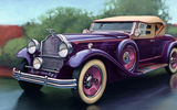Обои: packard, deluxe, eight sport phaeton, машина, арт