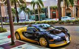 Обои: veyron, supercar, bugatti, eb, black, yellow, street