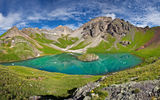 Обои: ice lake basin, горы, ulysses s grant peak, озеро, пейзаж, san juan mountains
