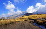 Обои: небо, горы, mountains, road, Mexico, дорога, clouds, sky, Мексика, облака