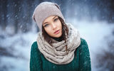 Обои: снег, brunette, модель, snow, шапка, girl, девушка, брюнетка, hat, Angelina Petrova, model, Ангелина Петрова