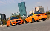 Обои: tuning, orange, matte, f10, m5, bmw