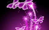 Обои: бабочки, неоновые, abstract, glow, sparkle, purple, butterflies, neon