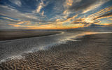 Обои: sea, sand, ocean, sunrise, sunset, scenery, nature, landscape, beautiful, sun, sky, beach, sky