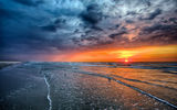Обои для рабочего стола: nature, ocean, sea, sky, sun, beautiful, sunrise, landscape, sand, sunset, sky, scenery, beach