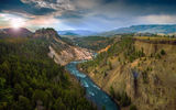 Обои: Grand Canyon Of The Yellowstone, лес, река