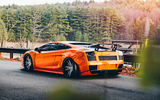 Обои для рабочего стола: Lamborghini, tuning, supercar, orange, Gallardo, rear view