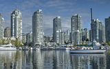 Обои: яхты, false creek, канада, ванкувер, здания, катера, британская колумбия, yaletown, набережная, порт