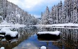 Картинки на телефон: winter, речка, the, snow, river
