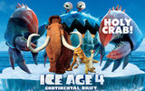 Обои: iceberg, continental drift, pirates, crab, Ice age 4, sid, animated film, manny, movie, diego