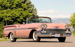 Обои Chevrolet Bel Air Impala Convertible '1958
