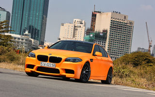 Обои BMW, Tuning, Orange, F10, Matte, M5