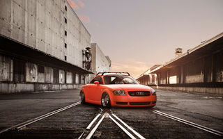 Обои Orange, Tuning, Stance, Audi, Car