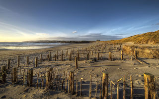 Обои atlantic ocean, sand, sky, maghery beach, ireland