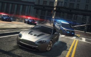 Обои Need for speed, 2012, MW, NFS, police, cars, Aston Martin V12 Vantage, Most Wanted
