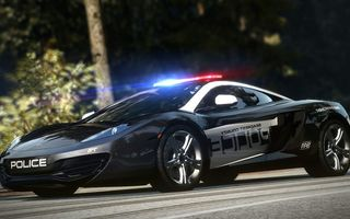 Картинка Need for speed, тачка, Hot pursuit, коп, McLaren, MP4-12C, полиция