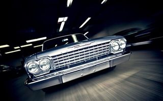 Обои 1962, Chevrolet, Bel Air, классика, muscle car, машина