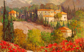Обои Sean Wallis, Flowering Italy, арт