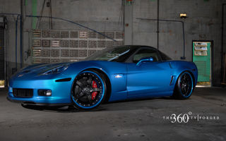 Обои Chevrolet, Z06, blue, 360 three sixty forged, Corvette
