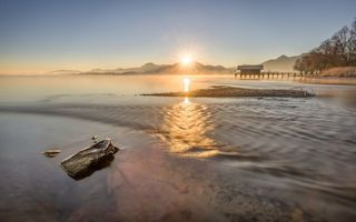 Обои Mountain Star, lake Chiemsee, Bavaria, Germany
