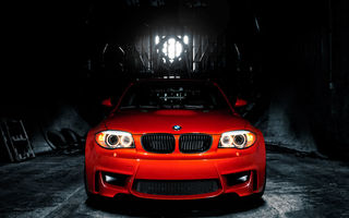 Картинка BMW 1M, MORR Wheels & iCarbon, оранж