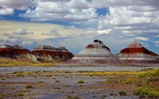 Обои горы, краски, Petrified Forest National Park, скалы, Аризона, США