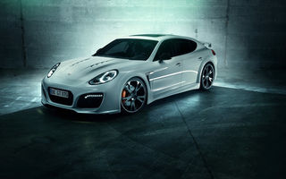 Обои Porsche, Panamera Turbo, white, TechArt GrandGT