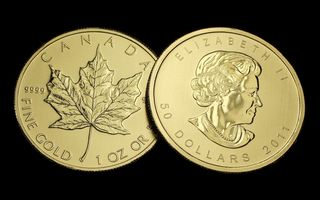 Картинка coin, gold, Canada, money