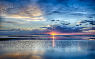 Картинка Grea Salt Lake, Utah, Sunset